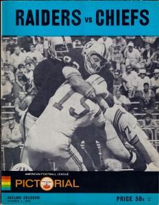 Chiefs vs Raiders 1967 program