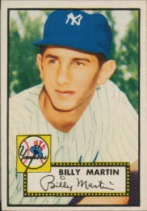 Billy Martin rookie card