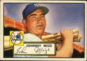 Johnny Mize 1952 Topps