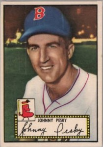 Johnny Pesky 1952 Topps