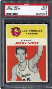 Jerry West rookie card PSA 9