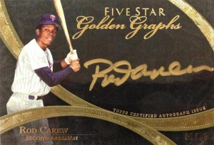 Golden Graphs Rod Carew 2014 Topps Five Star