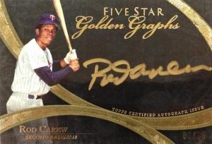 Golden Graphs Rod Carew 2014 Topps Five Star