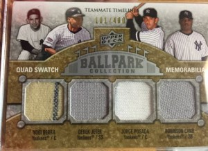 Yankees Ballpark Collection relic card
