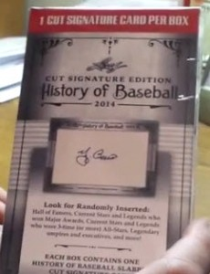 Leaf History of Baseball Cut Signatures box 2014