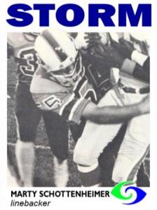 Marty Schottenheimer card WFL