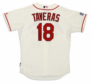 Game-worn Oscar Taveras Cardinals jersey