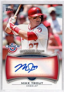 Mike Trout auto 2014 Topps Opening Day