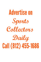 Advertise on Sports Collectors Daily