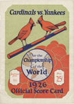 1926 World Series program