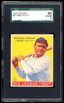 Higher grade 1933 Goudey Babe Ruth #53