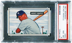 1951 Bowman Mickey Mantle rookie baseball card