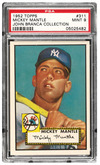 1952 Topps Mickey Mantle sold for 2,587