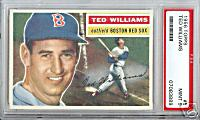 1956 Topps Ted Williams PSA 9 sold on eBay for 00