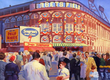 Ebbets Field painting