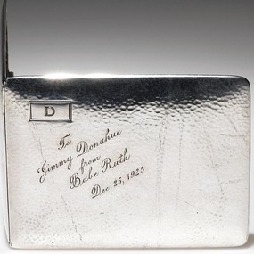 Babe Ruth inscribed cigarette