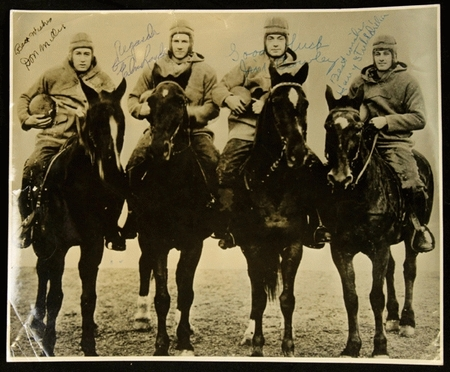 Notre Dame's Four Horsemen autographed photo