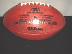 2008 AFC Championship game ball