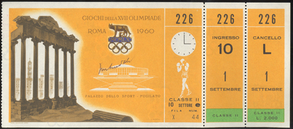1960 Olympic boxing ticket