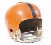 Game-worn Jim Brown Syracuse helmet