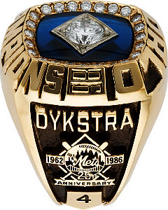 Lenny Dykstra\'s 1986 World Series ring