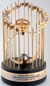 1986 Mets World Series player trophy given to Len Dykstra