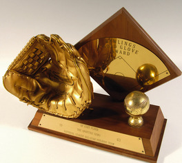 Curt Flood\'s Gold Glove award