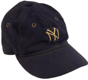 Lou Gehrig game-used cap