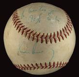John F Kennedy signed baseball to Mickey Vernon