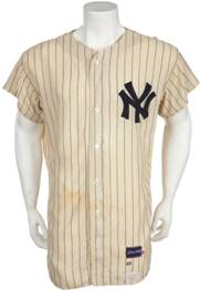 Mickey Mantle late 1960s Yankees jersey