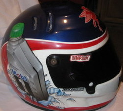 Jeremy Mayfield helmet from bump of Dale Earnhardt