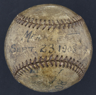 Fred Merkle 1908 World Series baseball