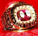 Aaron Taylor\'s Nebraska National Championship ring