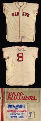 1957 Ted Williams game worn jersey