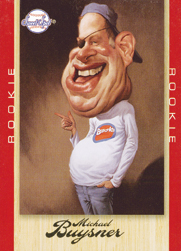 Upper Deck's Michael Buysner card parody of new Topps' CEO Michael Eisner