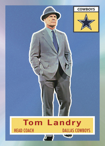 2010 eTopps Tom Landry in 1956 Topps design