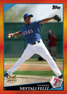 Neftali Feliz 2009 Topps Red Hot Rookie