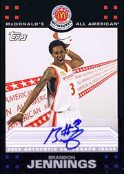 McDonald's All-American autographed Brandon Jennings card