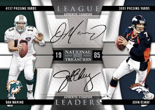 2009 Playoff National Treasures Dan Marino and John Elway