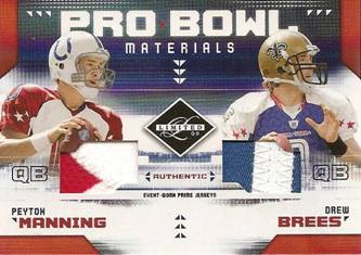 Pro Bowl Combo Materials Peyton Manning & Drew Brees