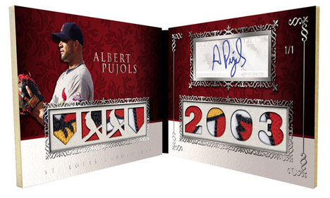 2009 Topps Sterling Albert Pujols Auto Relic Prime Parallel