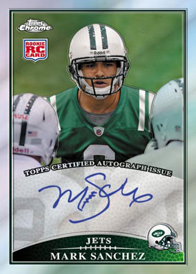 2009 Topps Chrome Mark Sanchez autograph rookie card