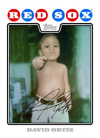 David Ortiz Topps baby card