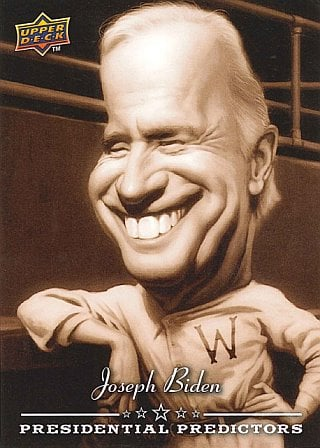 2008 Upper Deck Joe Biden baseball card