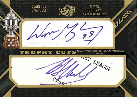 Upper Deck Black dual autograph Wayne Gretzky and Clarence Campbell