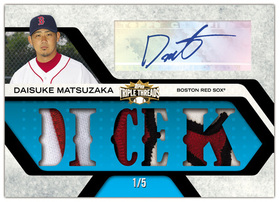 2008 Topps Triple Threads Diasuke Matsuzaka card