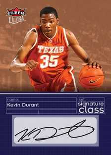 Autographed Kevin Durant card