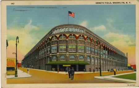 Ebbetts Field, home of the Brooklyn Dodgers