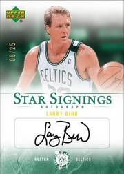 2007-2008 Larry Bird Upper Deck Star Signings autographed card