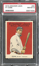1915 Cracker Jack Ty Cobb PSA 8